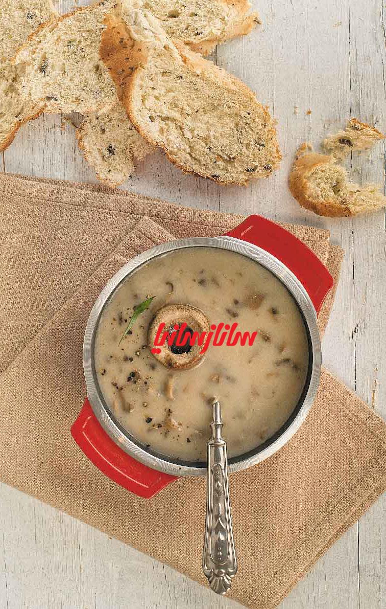 طرز تهیه و پخت سوپ خامهای با قارچ