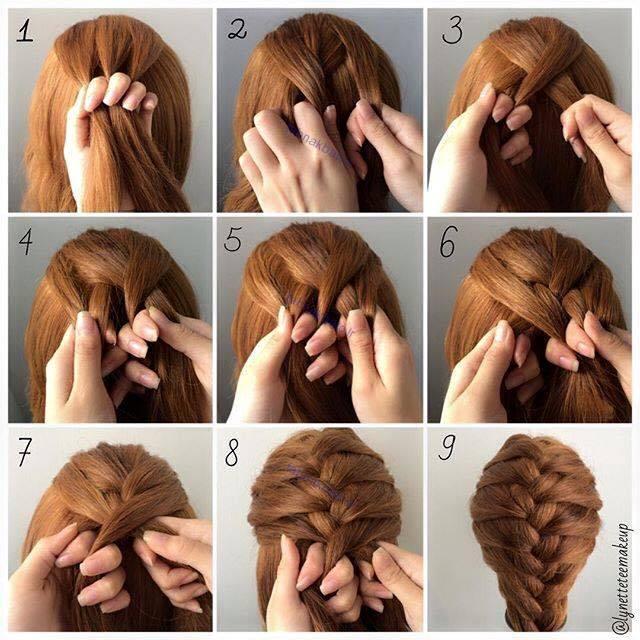آموزش تصویری مدل های زیبایی شینیون موهای بافته شده