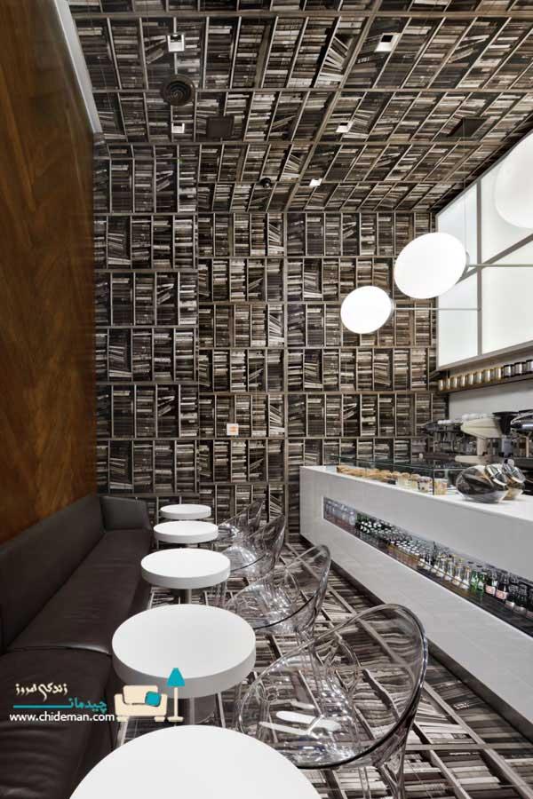 طراحی کافه با کتاب (پلان)