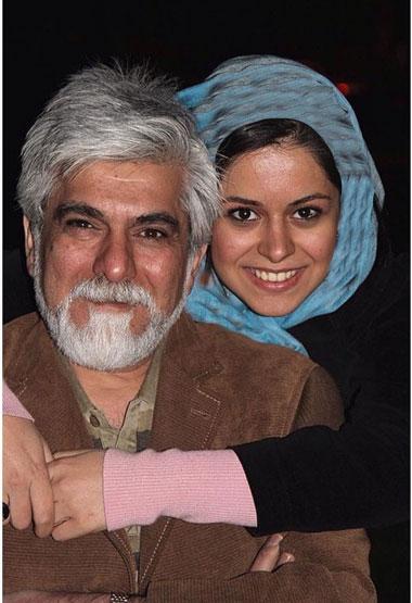 عکس حسین پاکدل و دخترش صبا