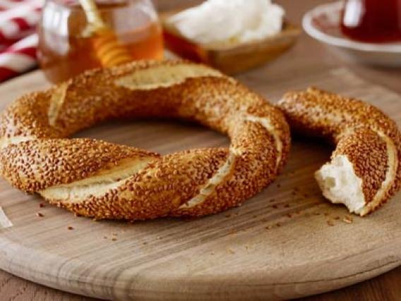طرز تهیه نان سیمیت ترکیه ای