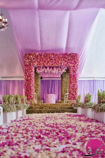 چیدمان مراسم عروسی به سبک هندی