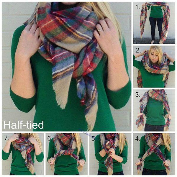روش های جالب و متنوع بستن شال و دستمال گردن برای خانم ها