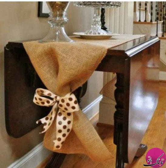 تصاویر: تزئینات زیبا و خلاقانه با گونی!