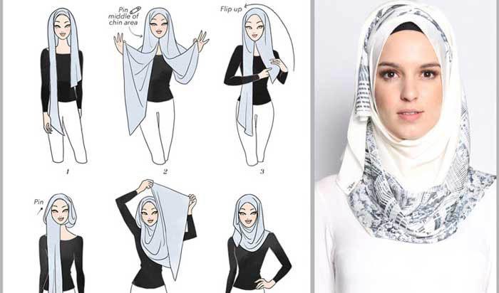 بستن شال یا روسری متناسب با فرم صورت