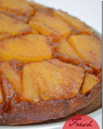 آموزش کامل و تصویری کیک برگردان آناناس