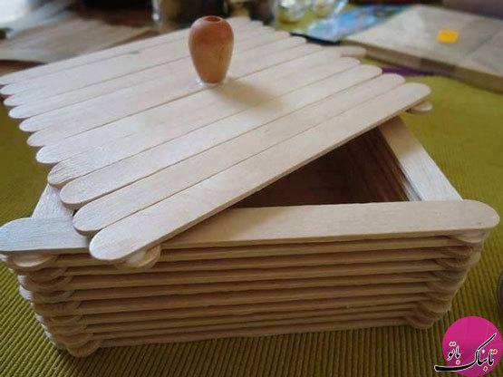 تصاویر: ساخت کاردستیهای زیبا با چوب بستنی
