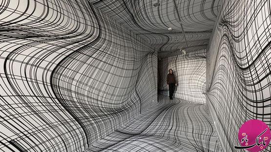 تصاویر: طراحی فضا با توهمات دیداری سرگیجهآور