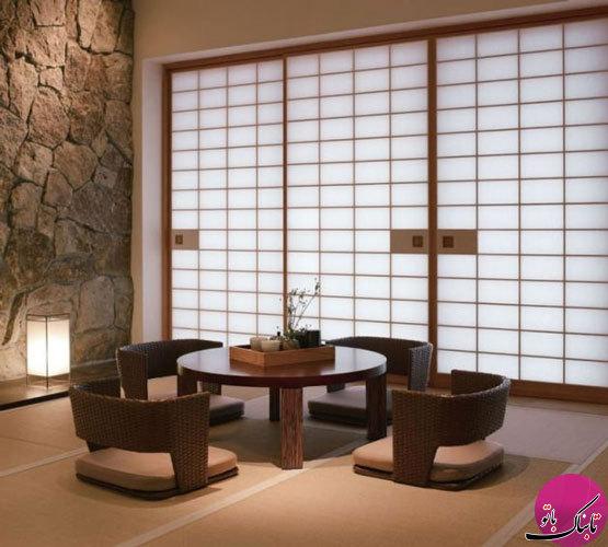 طراحیهای زیبای اتاق نشیمن به سبک ژاپنی