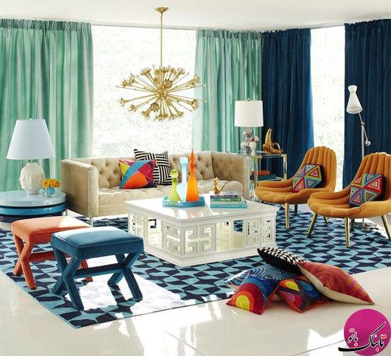 تصاویر: میهمانی رنگها در اتاق نشیمن