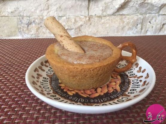 آموزش تصویری پخت کیک به شکل فنجان