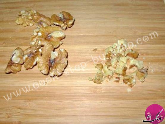 طرز تهیهی سالاد مرغ و گردو