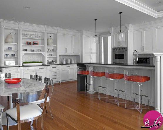 صندلیهای اکریلیک، زینتبخش فضای آشپزخانه