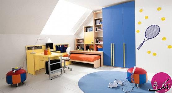 تصاویر: چیدمان شیک و مدرن اتاق کودک