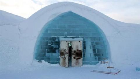 بزرگترین هتل یخی جهان در سوئد