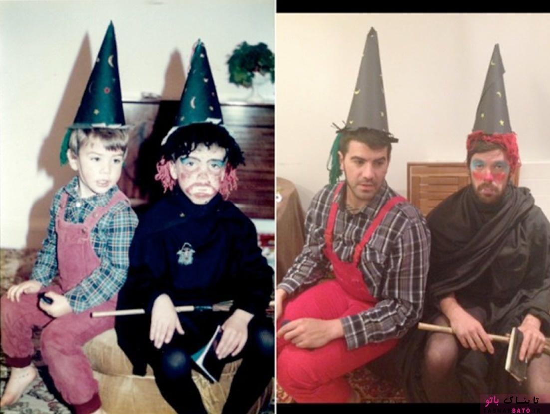 بازسازی خنده دارترین عکس های کودکی