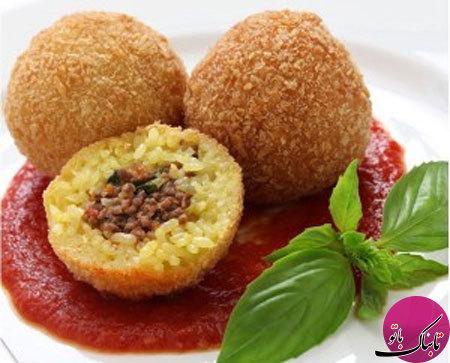 کوفته برنجی به سبک ایتالیایی