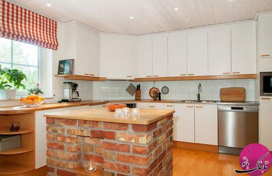 ایدههایی زیبا و مدرن از سنگ و آجر در نمای آشپزخانه