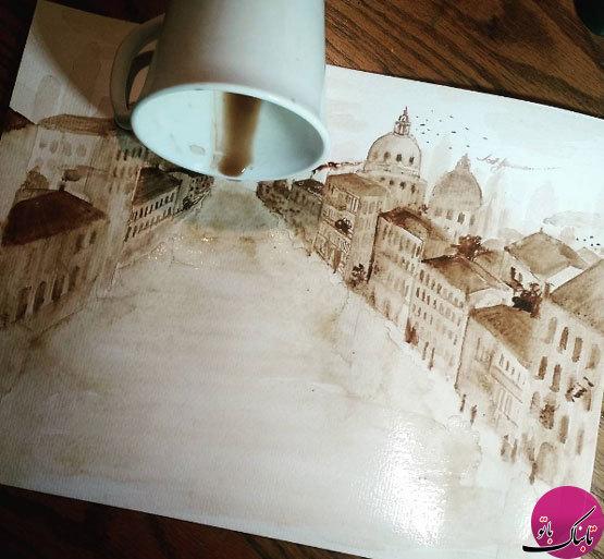 طراحیهای زیبا با استفاده از قهوه