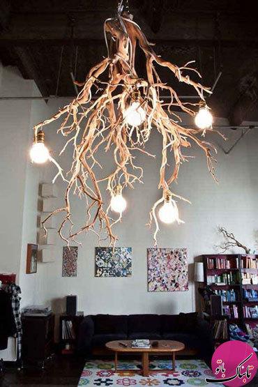 تصاویر: افزودن نمادی از درختان به چیدمان داخلی