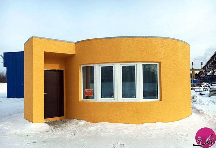 ساخت یک خانهی کامل با چاپ سه بعدی در 24 ساعت