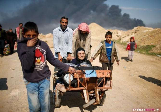 فرار از دست داعش به روایت تصاویر