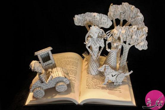 تصاویر: مجسمه هایی زیبا از جنس کاغذ