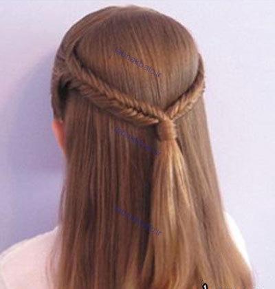 تصاویر: مدلهای آرایش و بافت موی  دخترانه