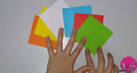 الگو کشیده شده جعبه مکعب ساخت جعبه دستمال به شکل مکعب روبیک