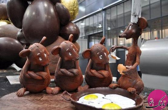 شکلات های کاکائویی با شکل هایی جالب و عجیب