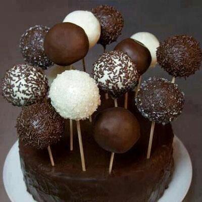 توپک های شکلاتی فوری درست کنید