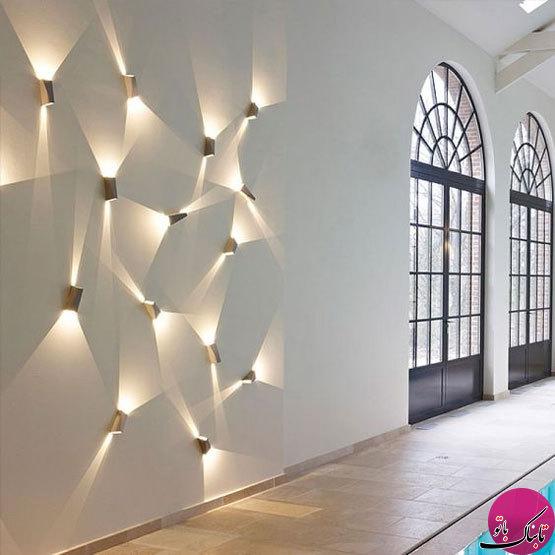 ایدههایی برای نورپردازی دیواری