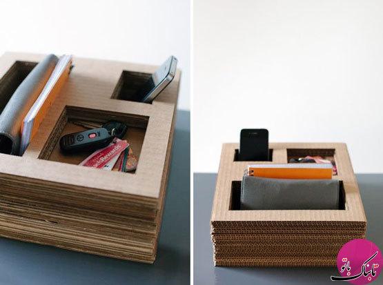 تصاویر: ساخت وسایل کاربردی با کارتن مقوایی