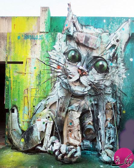 تصاویر: تبدیل خلاقانه زبالهها به مجسمهی حیوانات