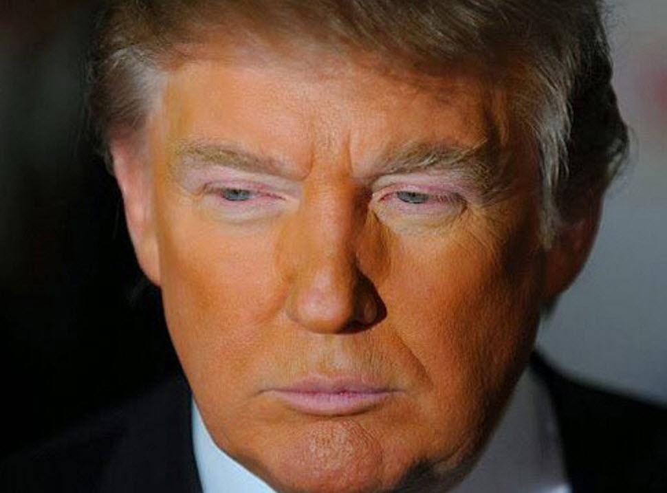 اسرار رنگ نارنجی صورت دونالد ترامپ!