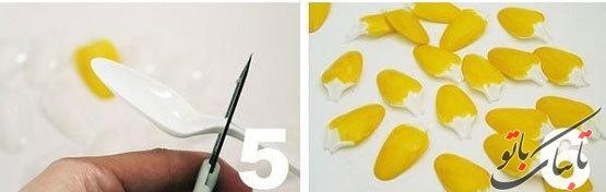 آموزش تصویری ساخت آباژور به شکل آناناس