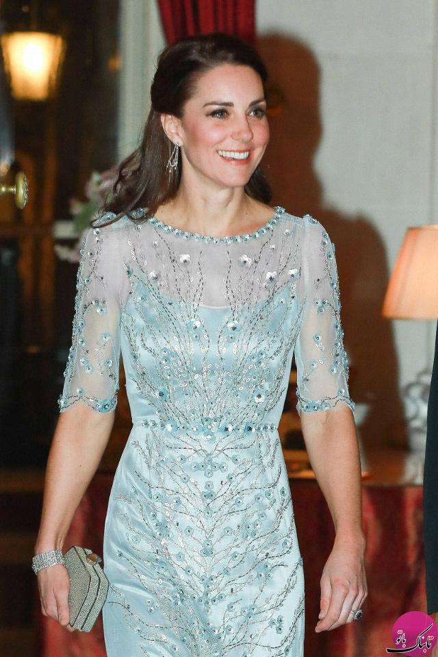 لباس مجلسی کیت میدلتون در ضیافت پاریس