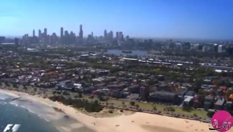 پیست اتومبیلرانی آلبرت پارک استرالیا از نمای بالا