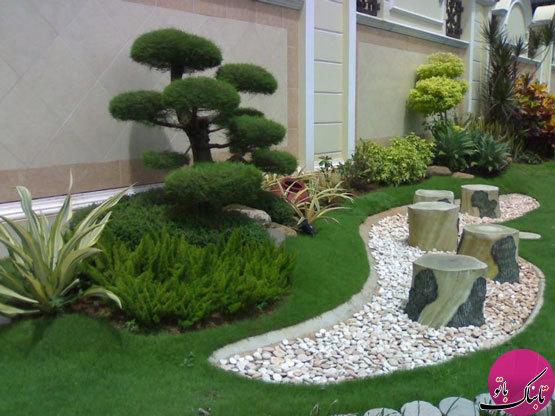 سنگریزههای زینتبخش باغچههای خانگی