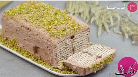 طرز تهیهی کیک سرد بیسکویتی