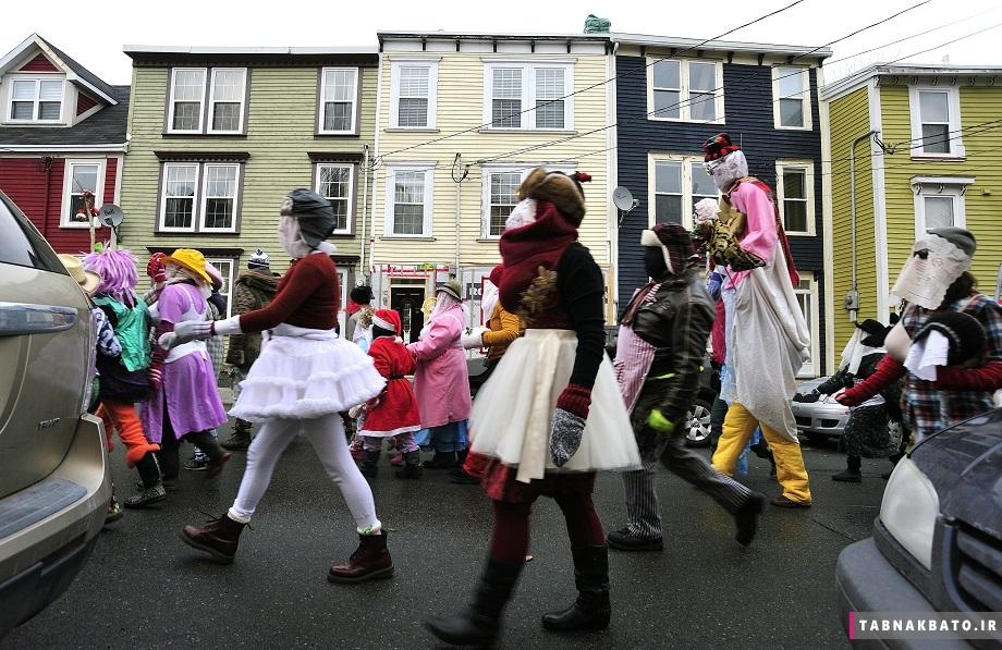 جشنواره مومیاییها در نیو فندلاند همزمان با جشن کریسمس