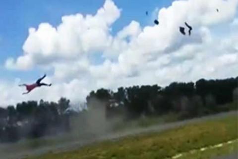پرواز موتورسوار پس از تصادف مرگبار