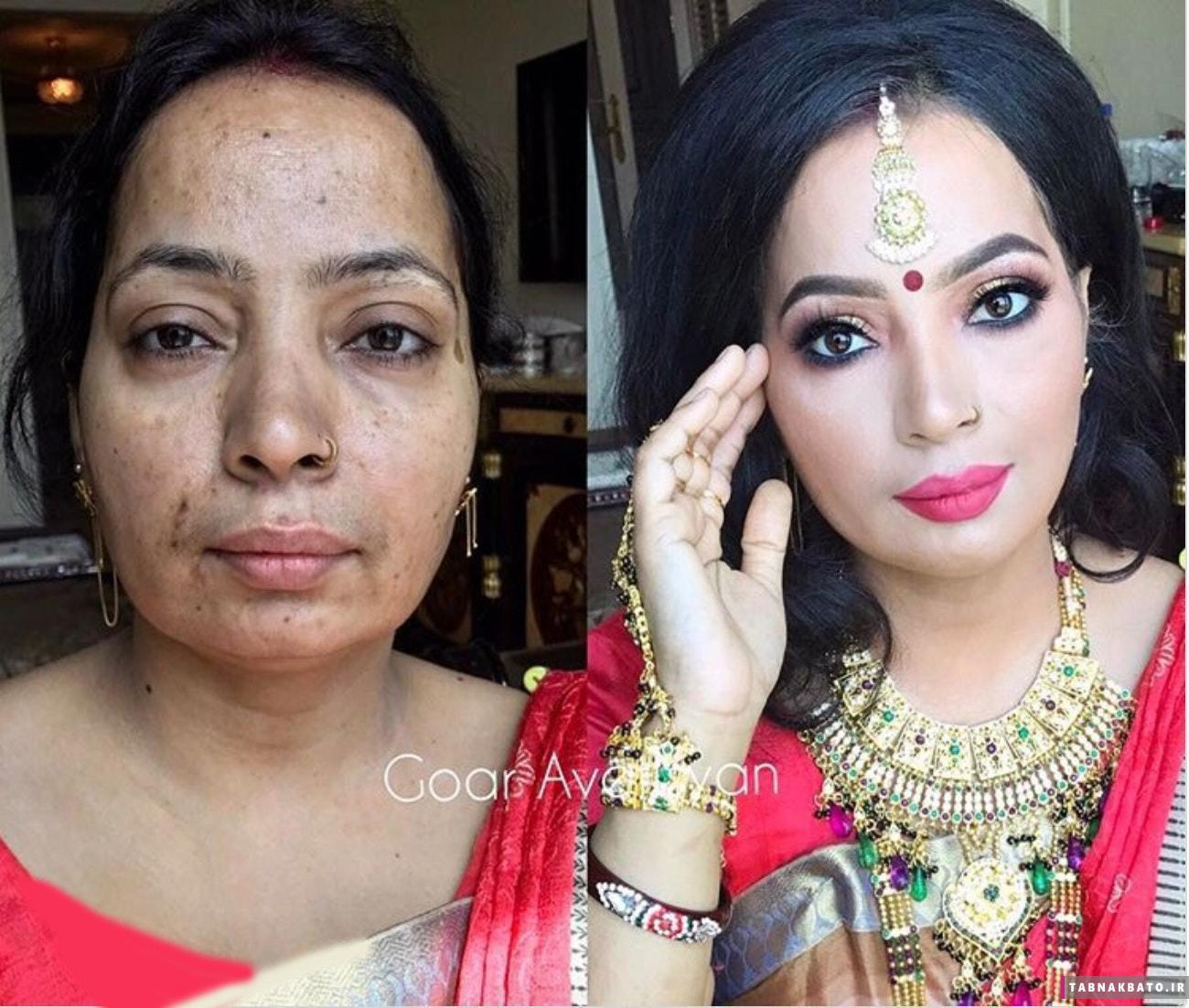 باورنکردنیترین آرایشهای چهره: تغییر اعجاب انگیز چهره خانمها!