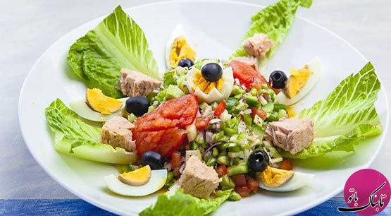 سالاد تن ماهی و سبزیجات؛ یک سالاد تونسی