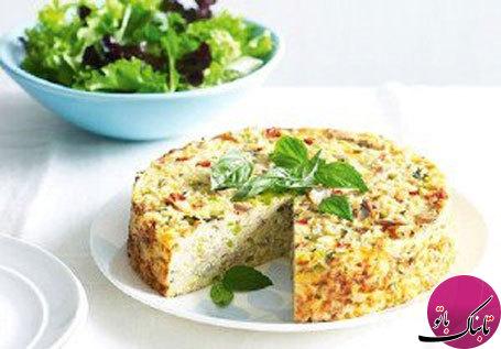 طرز تهیهی کیک برنج و تن ماهی