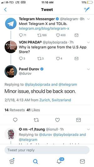 جدیدترین وعده پاول درباره تلگرام و تلگرام x