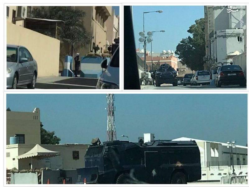 محاصره منزل شیخ عیسی قاسم + عکس