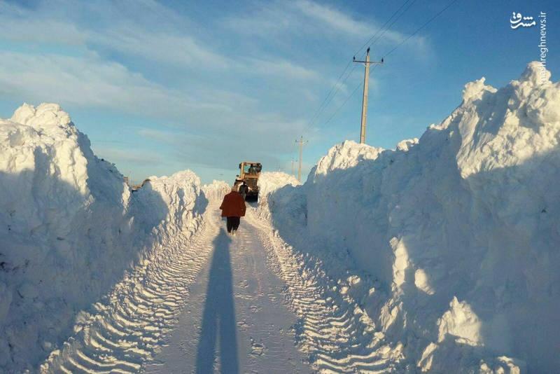 برف ۲ متری در آذربایجان شرقی +عکس