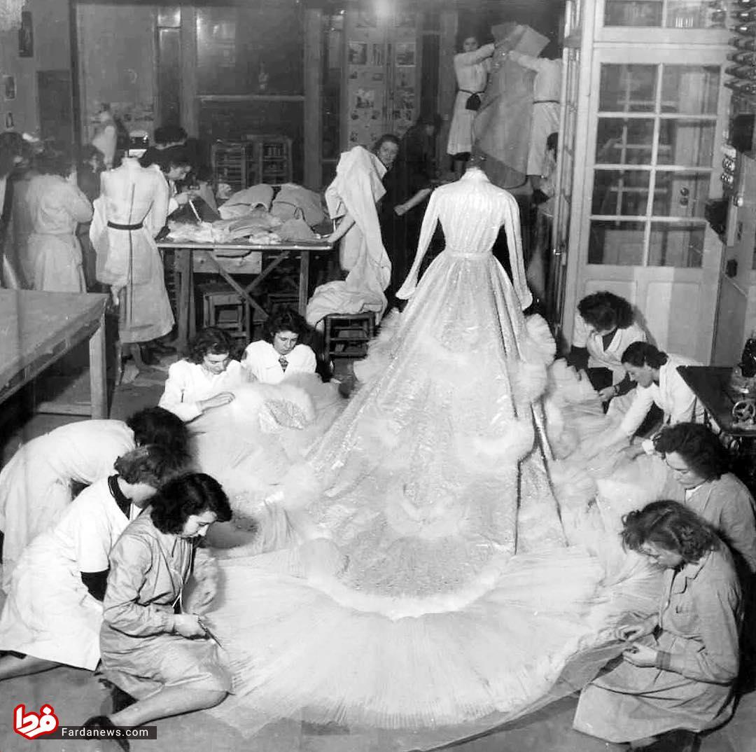 لباس عروس فوق تجملاتی همسر شاه+عکس