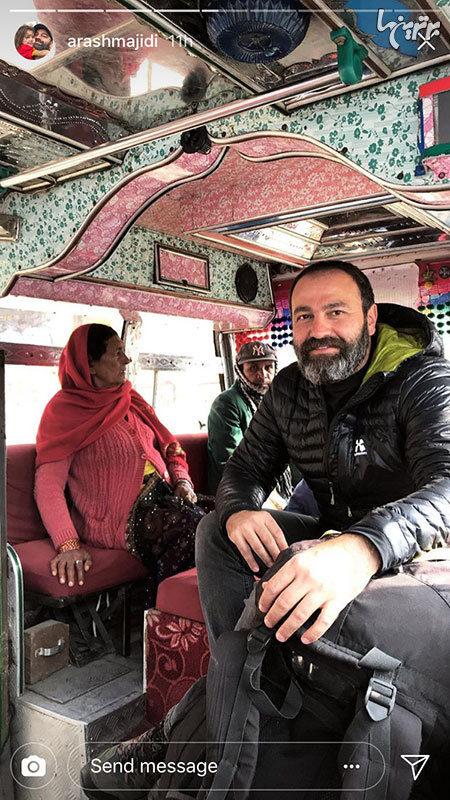 آقای بازیگر در حال گشت و گذار در هند +عکس